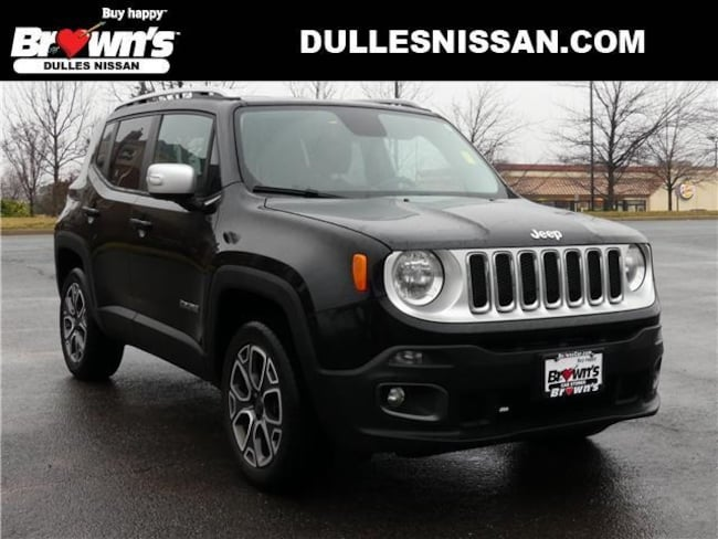2015 Jeep Renegade Limited SUV I4 MultiAir 2.4L 9-Speed 948TE Automatic P7661 Dulles & Sterling