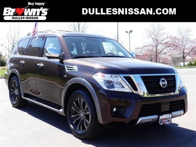 2018 Nissan Armada Platinum SUV V8 DOHC 32V Endurance 5.6L 7-Speed Automatic P7694