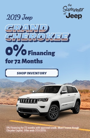 July 2019 Grand Cherokee 0% Financing Special