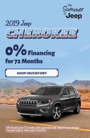 July 2019 Cherokee 0% Financing Special