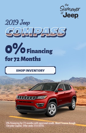July 2019 Compass 0% Financing Special