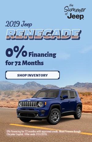 July 2019 Renegade 0% Financing Special