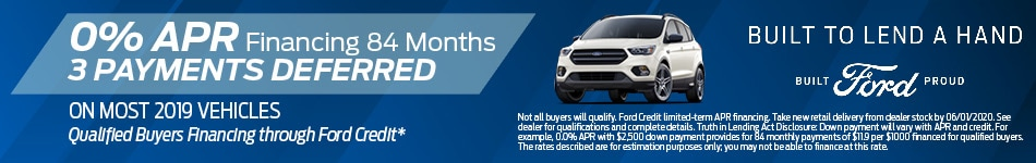 0% APR for 84 Mos. 3 Payments Deferred