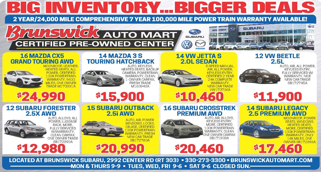 Used Vehicle Specials At Brunswick Auto Mart Serving