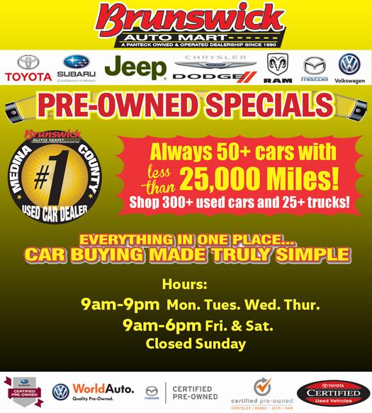 Used Vehicle Specials At Brunswick Auto Mart