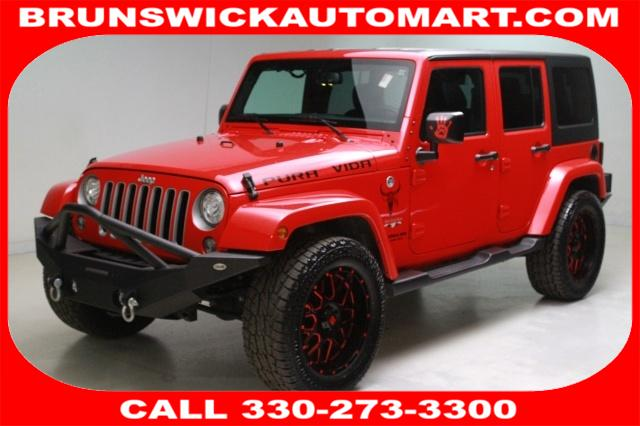 Featured Pre-Owned 2017 Jeep Wrangler JK Unlimited Sahara 4x4 SUV for sale near you in Brunswick, OH
