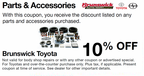 Discount Tire Hours Sunday >> Brunswick Auto Mart Toyota service specials Oil change specials, Tire Rebates & Coupons