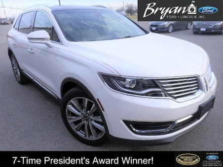 Used 2017 Lincoln MKX Reserve SUV for sale in Bryan, OH