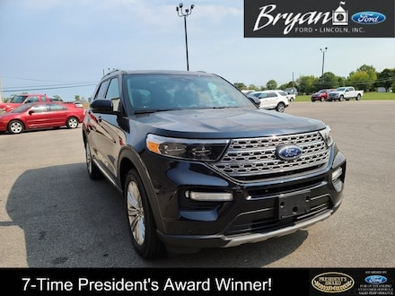 Used 2020 Ford Explorer Limited SUV for sale in Bryan, OH