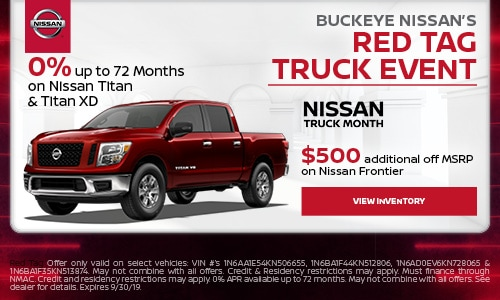 Buckeye Nissan's Red Tag Truck Event