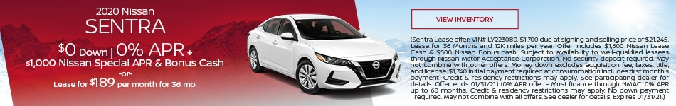 January 2020 Nissan Sentra  Offer
