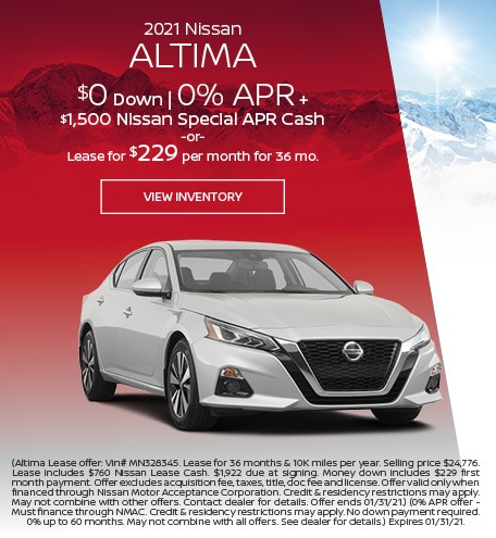 January 2021 Nissan Altima  Offer