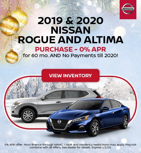 2019 Nissan Rogue OR 2020 Altima
