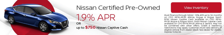October Nissan Certified Pre-Owned Offer
