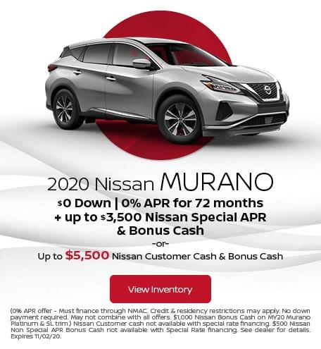 October 2020 Nissan Murano Offer
