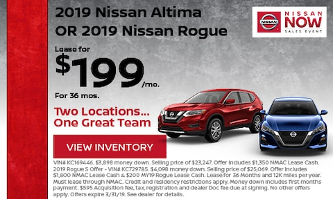 March '19 Altima & Rogue Lease Offer