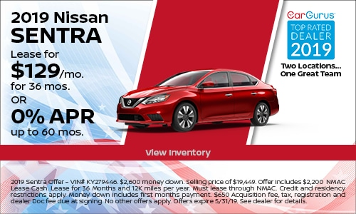 May 2019 Sentra Lease Offer