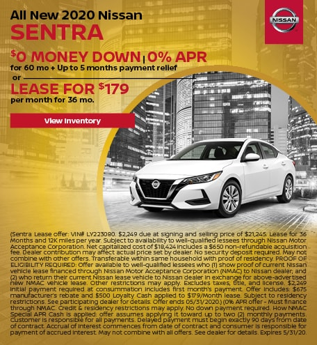 May All New 2020 Nissan Sentra Offers