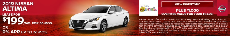 June 2019 Altima Lease Offer