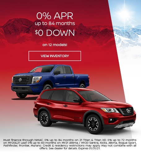 January 0% APR up to 84 months Offer