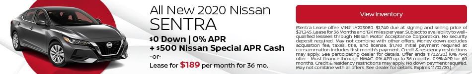 October All New 2020 Nissan Sentra Offer