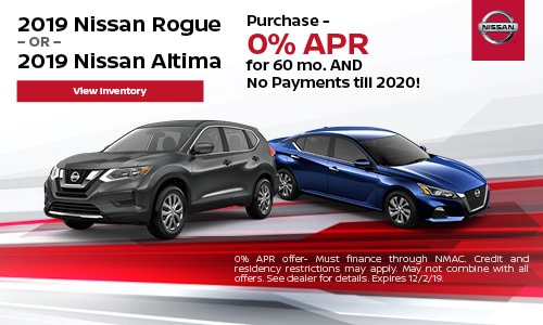 2019 Nissan Rogue OR Altima
