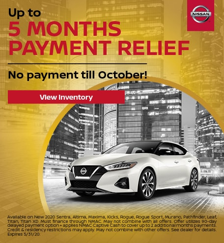 May's Up to 5 Months Payment Relief Offer