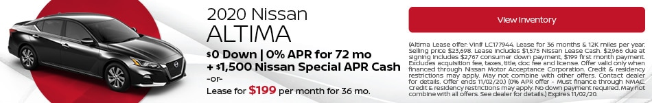 October 2020 Nissan Altima Offer