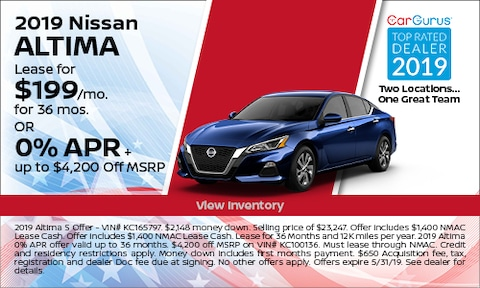 May 2019 Altima Lease Offer