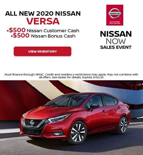 All New 2020 Nissan Versa