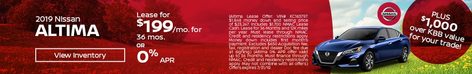 July 2019 Altima Lease Offer