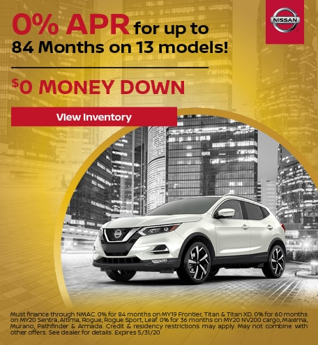 May's 0% APR for up to 84 Months on 13 models Offer