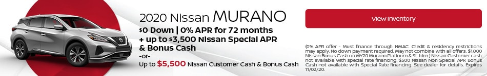 October 2020 Nissan Murano Offer