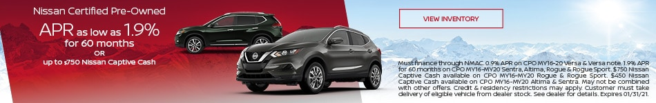 January Nissan Certified Pre-Owned Offer