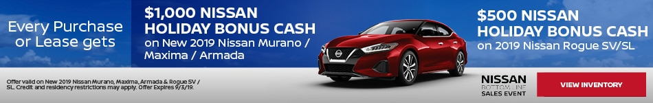 August 2019 Purchase or Lease Offers