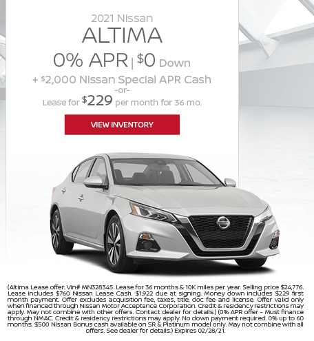 February 2021 Nissan Altima  Offer