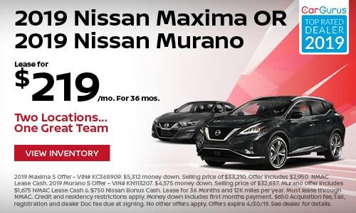 April 2019 Maxima & Murano Lease Offer