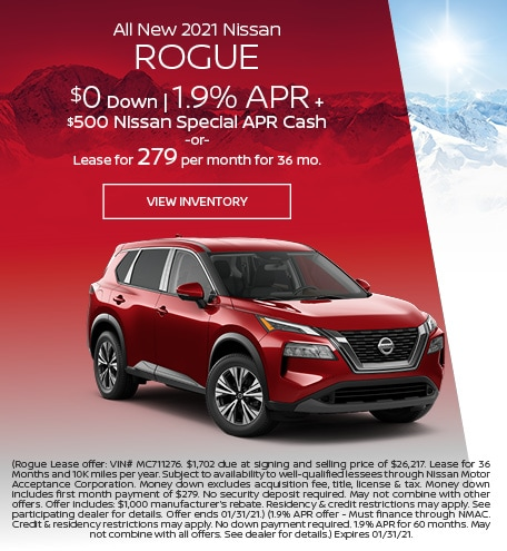 January All New 2021 Nissan Rogue Offer