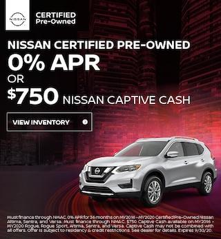 September Nissan Certified Pre-Owned Offer