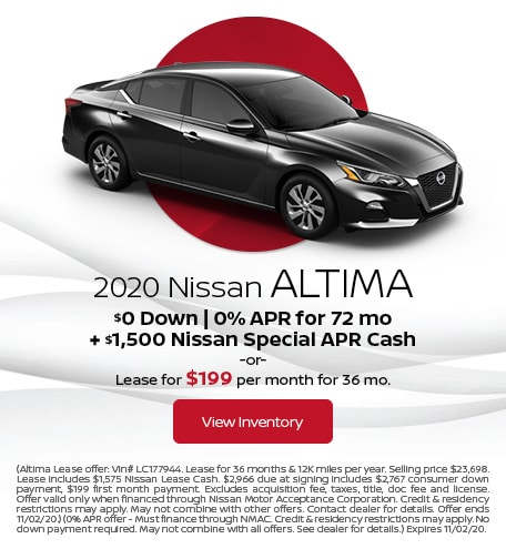 October 2020 Nissan Altima Offer