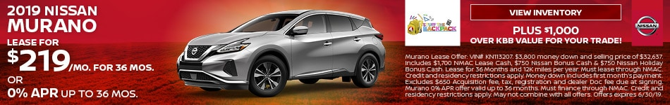 June 2019 Nissan Murano Lease