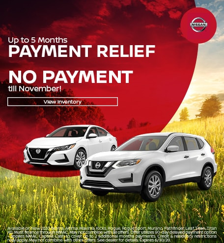 June Up to 5 Months Payment Relief Offer