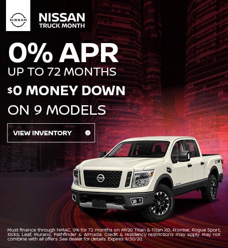September 0% APR up to 72 months Offer