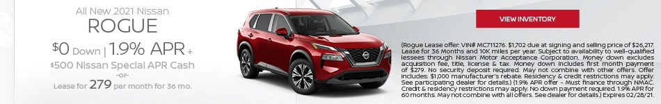 February All New 2021 Nissan Rogue  Offer