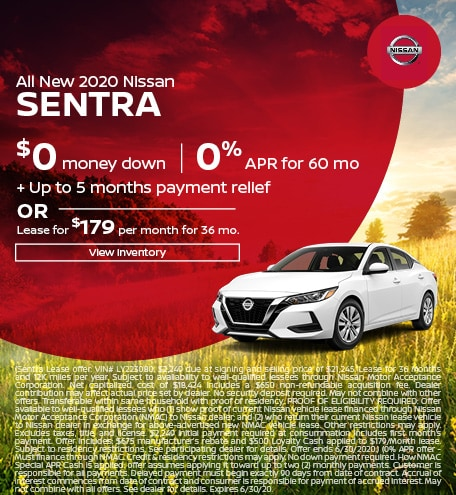 June All New 2020 Nissan Sentra Offers