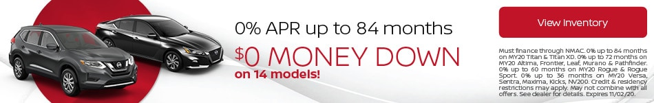 October 0% APR up to 84 months Offer