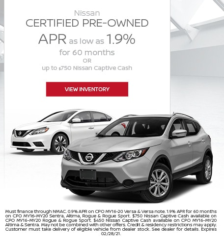 February Nissan Certified Pre-Owned Offer
