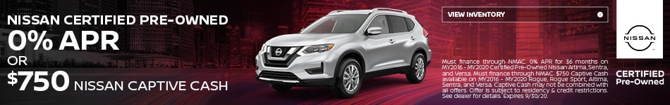 September Nissan Certified Pre-Owned Offer