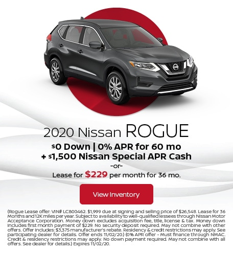 October 2020 Nissan Rogue Offer