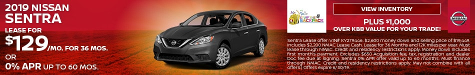 June 2019 Nissan Sentra Lease